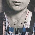 "<strong><em>From Italy to Little Italy, an homage to Lewis HInes</em></strong>, photographic collage and paint on wood panel<div id=""copy"">© Sara Friedlander</div>"