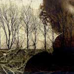 "<strong><em>The Red Barn: Uprooted from Holland</em></strong>, photographic collage and paint on wood panel<div id=""copy"">© Sara Friedlander</div>"