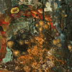 """Central Park, 1965"" 68 x 72"" acrylic on canvas, 1995<div id=""copy"">© Frank Galuzska</div>"