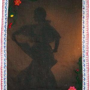 """Recuerda tus Raíces"" , embroidered inkjet print on 100% Belgian linen, 2018 <div id=""copy"">© Jennifer Ortiz</div>"