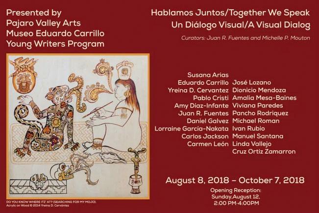 Postcard for Hablamos Juntos Together We Speak exhibition at Pajaro Valley Arts