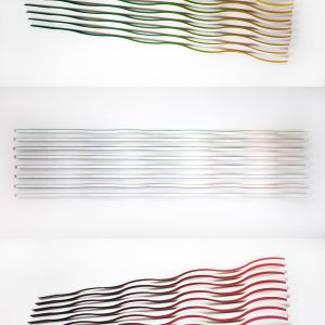 "<strong>Marissa Geoffroy</strong>   ""Untitled (Wood Wave)"",  wood & acrylic paint, 8"" x 28"" x 1"", 2020"