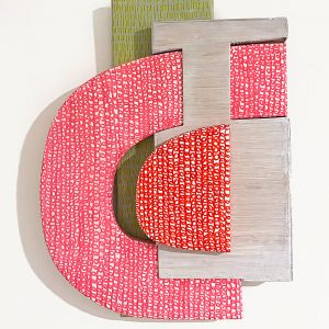 "<strong>Marissa Geoffroy</strong>   ""Untitled (Wood Puzzle Collage)"",  wood & acrylic paint, 12"" x 14"" x 3"", 2020"