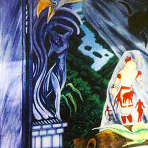 <b>Guillermo Aranda</b> <i>Source of Life/Mural</i>, acrylics, 12 ft  x 14 ft, 1994