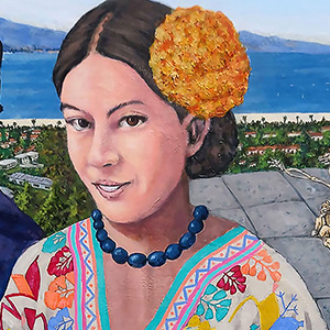 "<b>Ralph James D'Oliveira</b> <i>Flower Girls</i>, acrylics, 48 x 36"", 2009"