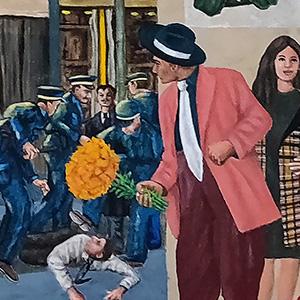 "<b>Ralph James D'Oliveira</b> <i>Mestizo</i>, acrylics, 36"" x 60"", 2020"
