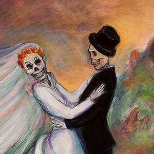 """<b>Carmen León</b> <i>La Boda</i>, acrylic painting, 40"""" x 30"""",2010"""